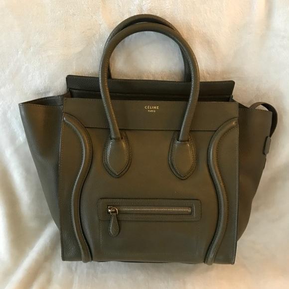 Celine Bags   Authentic Mini Luggage Olive Green   Poshmark 6d36f60ca4